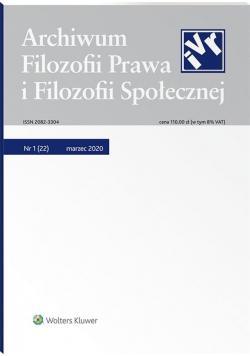 Archiwum Filozofii Prawa i Filozofii.. 1/2020 (22)