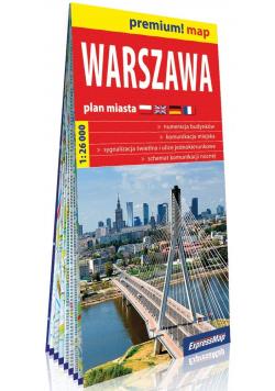 Premium! map Warszawa 1:26 000 plan miasta w.2019