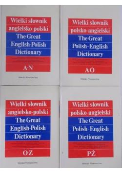 Wielki słownik angielsko polski 4 tomy