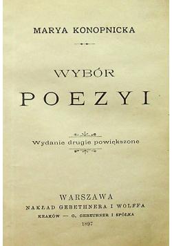 Konopnicka Wybór Poezyi 1897 r.