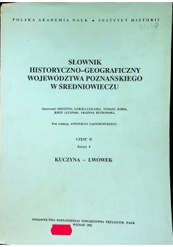 Słownik Historyczno Geograficzny Województwa Poznańskiego w Średniowieczu Cz II Zeszyt 4