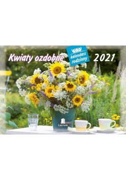 Kalendarz 2021 Rodzinny Kwiaty ozdobne WL2