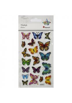 Naklejki wypukłe motylki 19szt