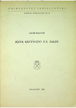 Język krytyczny F X Saldy