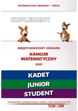Mat. z wesołym kangurem - Suplement 2020 - Kadet..