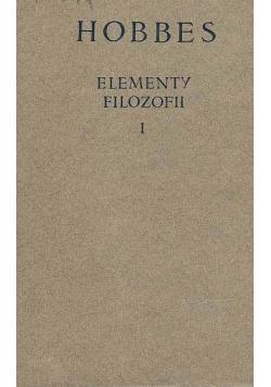 Elementy filozofii I