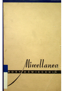 Miscellanea Z doby oświecenia 2