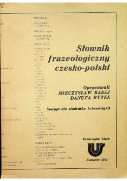 Słownik frazeologiczny czesko polski