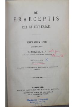 De praeceptis dei et ecclesiae Tom II 1911r