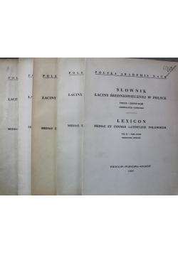 Słownik łaciny średniowiecznej w Polsce Tom II 5 zeszytów
