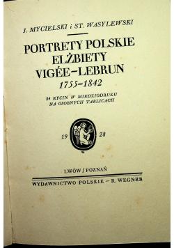 Portrety Polskie Elżbiety Vigee Lebrun 1928 r.