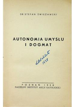 Autonomia umysłu i dogmat 1938 r.