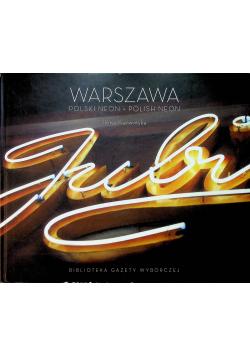 Warszawa Polski neon