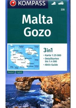 Malta, Gozo 3w1 1:25 000 Kompass