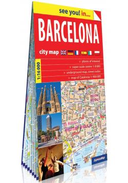 Barcelona papierowy plan miasta 1:16 000