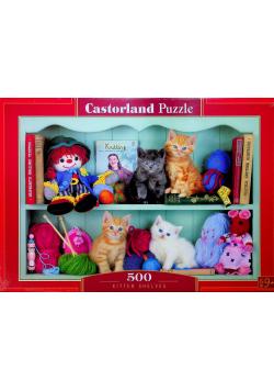 Puzzle 500 Półki dla kociąt Nowe