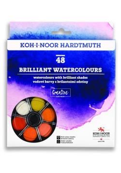 Farby akwarelowe Brilliant 48 kolorów okrągłe