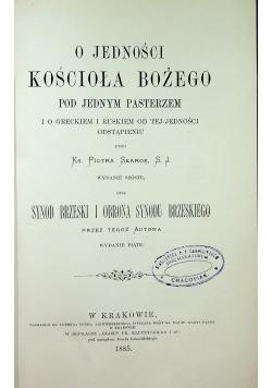 O jedności kościoła Bożego pod jednym pasterzem 1885 r