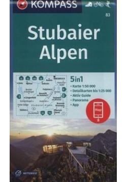 Alpy Sztubajskie/Stubaier Alpen 1:50 000 KOMPASS