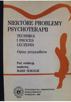 Niektóre problemy psychoterapii