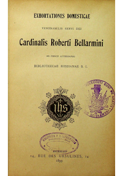 Cardinalis Roberti Bellarmini 1899 r.
