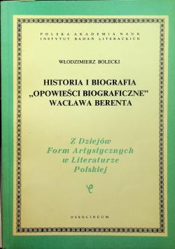 Historia i biografia Opowieści biograficzne Wacława Berenta