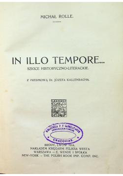 In Illo Tempore szkice historyczno literackie 1914 r.