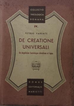 De Creatone Universali