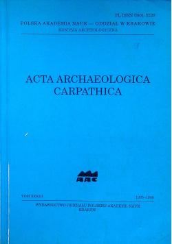Acta archaeologica carpathica tom XXXIII