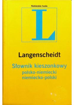 Słownik kieszonkowy polsko niemiecki niemiecko polski