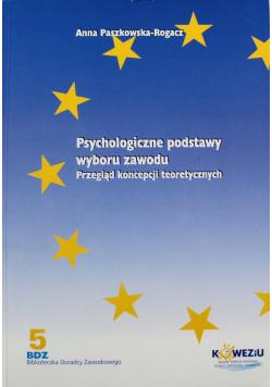 Psychologiczne podstawy wyboru zawodu Przegląd koncepcji teoretycznych
