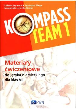 Kompass Team 1 Materiały ćwiczeniowe do języka niemieckiego dla klas 7