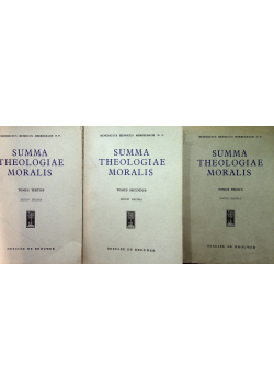 Summa Theologiae Moralis 3 tomy