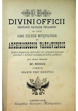 Ordo Divini Offich ac Missarum / Sacrae Romano - Catholicae Ecclesiae Jesu Christi 1900 r.