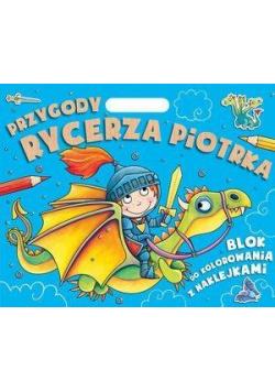 Przygody Rycerza Piotrka. Blok do kolorowania