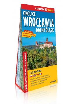 Comfort! map Okolice Wrocławia 1:220 000 mapa