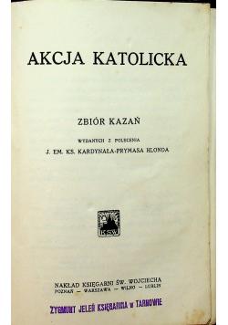 Akcja katolicka zbiór kazań 1928 r