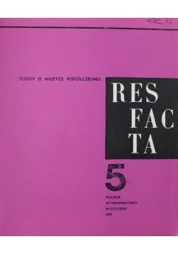 Teksty o muzyce współczesnej Resfacta 5