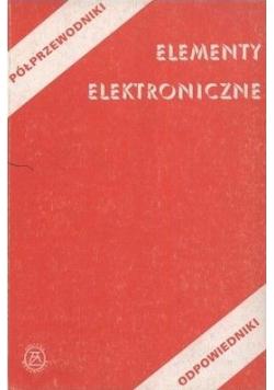 Elementy elektroniczne Półprzewodniki