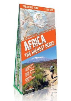 Trekking map Afryka najwy.szczyty 1:150 000 mapa