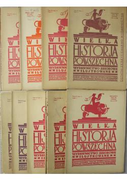 Wielka Historja powszechna 1934 r.  9 Tomów