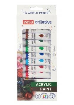 Farba akrylowa 12 kolorów EASY