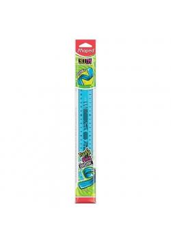 Linijka Twist'n Flex niełamliwa30 cm niebieska