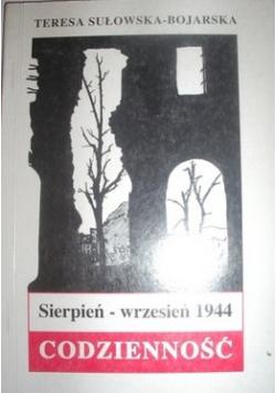Sierpień wrzesień 1944 Codzienność