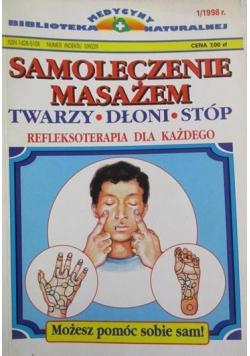 Samoleczenie masażem twarzy dłoni stóp