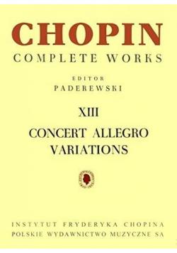 Chopin Complete Works XIII Concert Allegro...