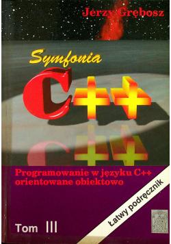Symfonia C ++ Tom III