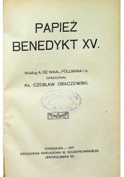 Papież Benedykt XV 1917 r