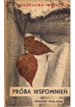 Próba wspomnień Gdańsk 1945 1946