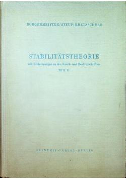 Stabilitatstheorie Teil II